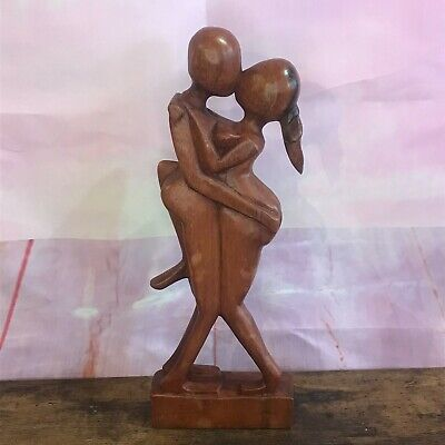 £18 • Buy Dancing Couple 30cm Wooden Abstract Figure Carving Wooden Abstract Lovers