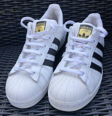 AU9.44 • Buy Adidas Superstar Trainers Shoes. White And Black. UK 5