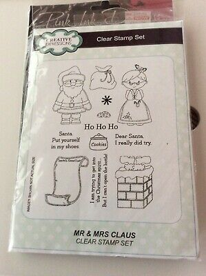£4.50 • Buy Creative Expressions Clear Stamp Set Mr And Mrs Claus
