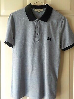 $40 • Buy Burberry London, England Short Sleeve Gray Polo Shirt  Size Xs  Excellent Preown