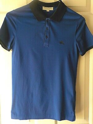 $40 • Buy Burberry London, England Short Sleeve Blue Polo Shirt  Size Xs  Excellent Preown