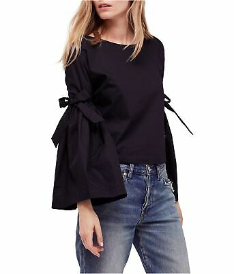 AU13.28 • Buy Free People Womens So Obviously Yours Button Down Blouse, Black, Small