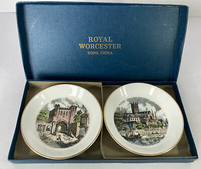 £8.95 • Buy Royal Worcester Pin Dishes Expressly Made For Kay & Co With Box Trinket Dish