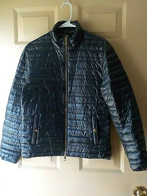 $300 • Buy Burberry Brit Light Weight Nylon Quilted Puffer Jacket Size S  Excellent Preown