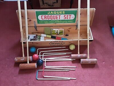 £80 • Buy Jaques Croquet Set 125; Hardwood; Well Used With Scratches On Paintwork.