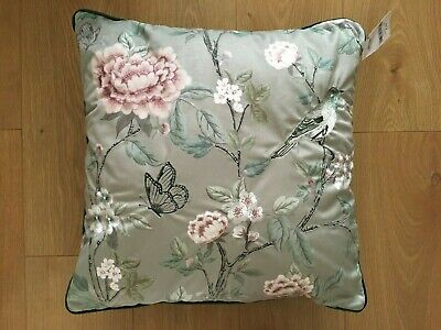 £19.99 • Buy Next (Green) Oriental Chinoiserie Embroidered Cushion - Size 50x50cm - BNWT