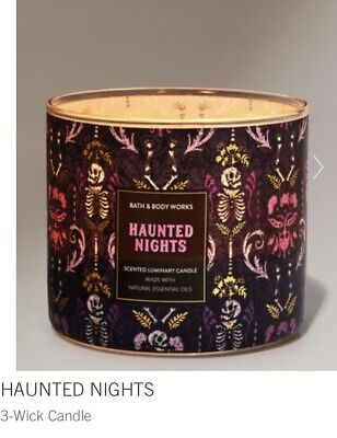£19 • Buy Bath And Body Works Large Scented 3-Wick Candles Halloween Collection 👻🎃