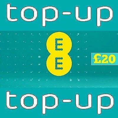 £20.95 • Buy EE - £20 - Pay As You Go - Mobile Phone Top Up Code / Voucher