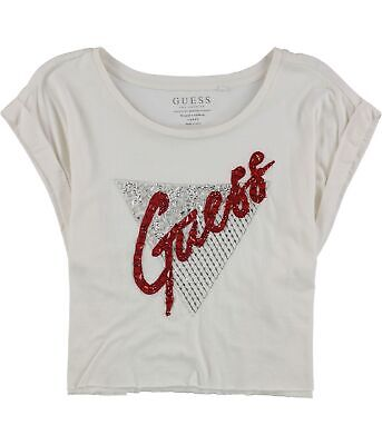 AU6.64 • Buy GUESS Womens Embellished Crop Top Blouse, Off-White, Medium