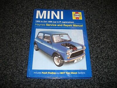 £7.50 • Buy Haynes Service And Repair Manual For Mini 1969 To Oct 1996 Up To P Reg