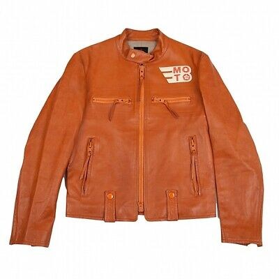 £506.13 • Buy Y-3 Patch Leather Motorcycle Jacket Size M(K-85796)