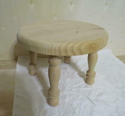 $5.95 • Buy Primitive Style Solid Pine Wood Farm Milking Stool Foot Bench Made In USA As-is