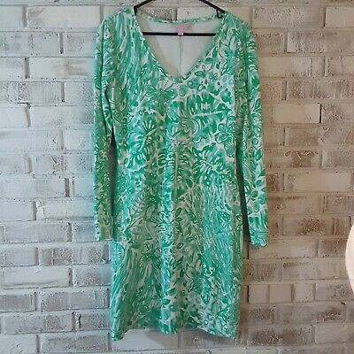 $62.50 • Buy Lilly Pulitzer Dress  Sz M Green/White,Classic, Comfort