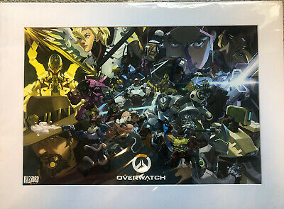 AU101.63 • Buy Blizzcon 2017 OVERWATCH Exclusive Limited Edition Art Print Matted Poster