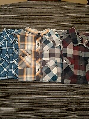 $120 • Buy Lot Of 4 Outdoor Research Feedback Flannel Shirts, Men's Size Large