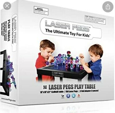 £179 • Buy Brand New Laser Pegs Light Up Play Table Ultimate Toy Set RRP £299 Bricks Lego