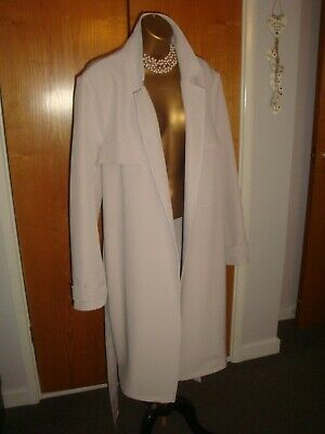 £19.99 • Buy LADIES STONE GREY CLASSY TRENCH DUSTER COAT BY M& Co SIZE 18 NWT RRP £70.00