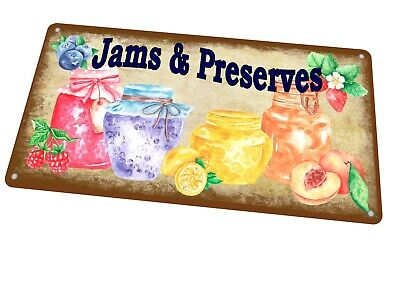 £8.75 • Buy Jams & Preserves Vintage Sign Reproduction Antique Style Metal Sign Kitchen