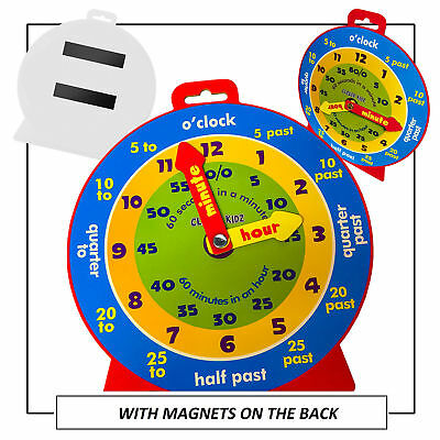 £3.98 • Buy Kids Teaching Clock Child Learn To Tell The Time Girls Boys Educational Game Toy