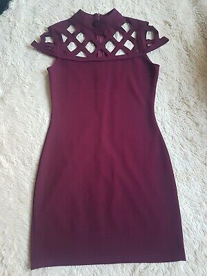 £1.49 • Buy Purple / Maroon Unbranded Dress With Cut Out Neckline Size 10