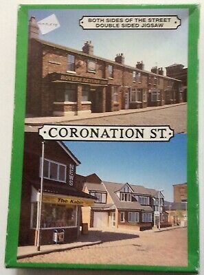 £2.50 • Buy CORONATION STREET 500 Piece Double Sided Jigsaw 🐯🐯 BOTH SIDES OF THE STREET