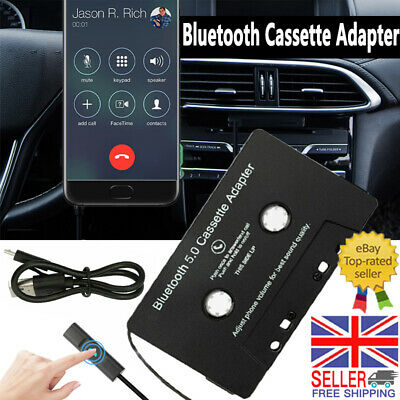 £13.89 • Buy Wireless Bluetooth 5.0 Cassette Tape Adapter Car Audio Stereo MP3 Hands-Free Aux