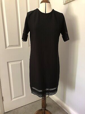 £3.99 • Buy Cameo Rose Black Cut Out Dress Size 14