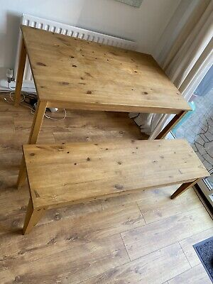 £80 • Buy Ikea Dinning Table + Bench And 2 Chairs Set