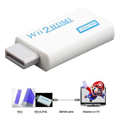 £4.59 • Buy Wii Input To HDMI 1080P Audio Output Converter Adapter Cable 3.5mm White BV