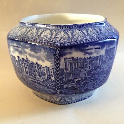 £9.99 • Buy Maling Ware Blue & White Ringtons Pot - Northern Castles - 1920s