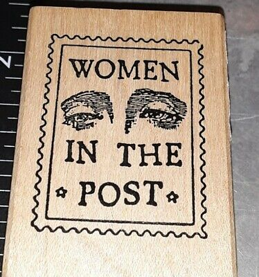 $2.99 • Buy Postal Stamp,women In The Post,stamp Fransisco,,E6,wood, Rubber Stamp