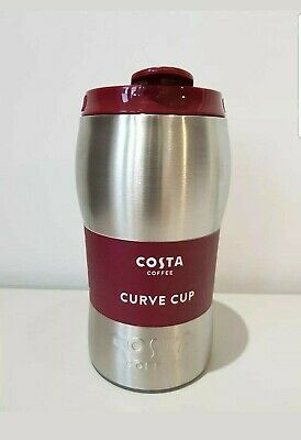 £15.99 • Buy NEW Costa Coffee Stainless Steel Travel Mug Insulated Thermal 450ml Curve Cup