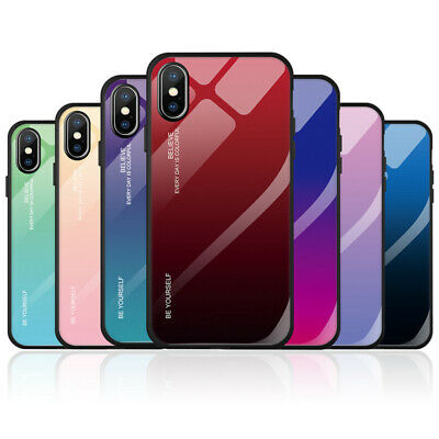 AU9.86 • Buy Case For IPhone 6 7 8 Plus X XS XR 12 11 Pro Max Gradient Tempered Glass Cover