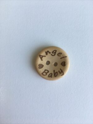 £3.25 • Buy 10 X Wooden Buttons 18mm. Angel Baby Knits