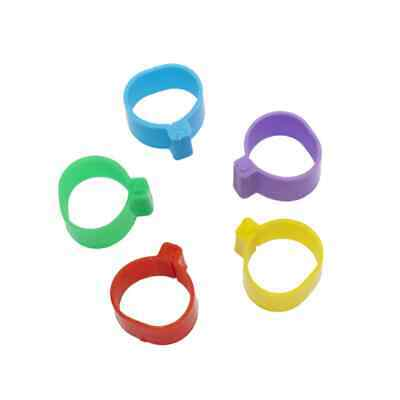 £7.59 • Buy Pack Of 20 X 20mm Flat Leg Rings In 5 Mixed Colours | Ducks Larger Hens Turkey