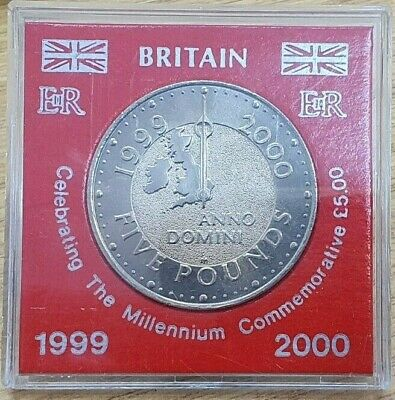 £12.50 • Buy 1999/2000 Millennium Five Pound Coin Brilliant Uncirculated With Case