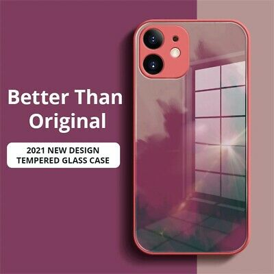 AU10.99 • Buy Marble Luxury Tempered Glass Case Cover For IPhone 12/Pro/Max 11 XR XS MAX SE