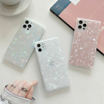 AU9.99 • Buy Granite Marble Phone Case Square Cover For IPhone 7 8 Plus XR XS X 11 12 Pro MAX