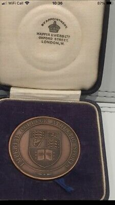 £0.99 • Buy MAPPIN AND WEBB BRONZE 1934 TUG OF WAR MEDAL IN ORIGINAL BOX.Excellent Condition
