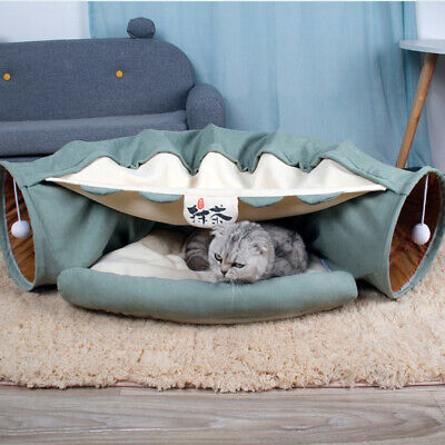 £22.51 • Buy Folding Cat Crackle Tunnel Pet Interactive Puppy Tube Kitten Play Toy Hides