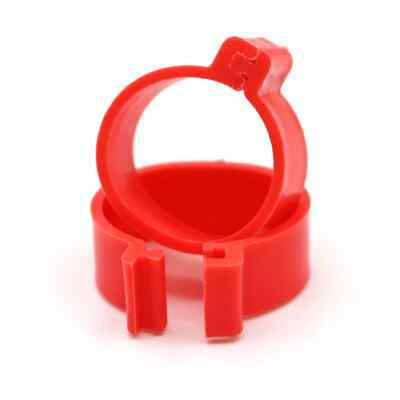 £4.45 • Buy Chicken Poultry Flat Leg Rings In RED | Pack Of 10 X 16mm | Free Postage