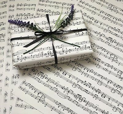 £3.50 • Buy 6 X SHEETS OF MUSIC PAPER IN CREAM A3 SIZE - CRAFT OR WRAPPING PAPER