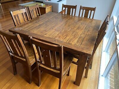 AU400 • Buy Dining Table - Wooden, Large, 8 Chairs