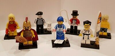 £45.99 • Buy Lego Series 2 CMF X7 Minifigures Spartan/Downhill Skier/Surfer/Mime+More See Pic