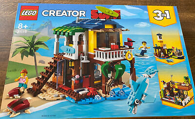 £35 • Buy LEGO Creator 31118 3 In 1 Surfer Beach House, Lighthouse & Pool House  Brand New