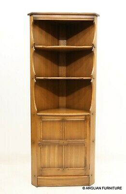 £267 • Buy Ercol Corner Unit With Shelves And Cupboard Golden Dawn Finish FREE UK Delivery