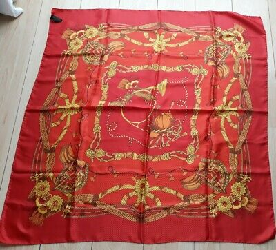 £8 • Buy TIE RACK Red And Gold Silky Scarf