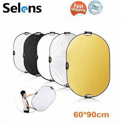 £12.98 • Buy Selens 60x90cm 5in1 Photo Photography Light Reflector Diffuser Collapsible