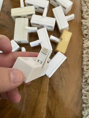 £6.99 • Buy 12 PCs Of 2 Way BT Telephone Line Phone Socket Splitter Converter Y  One To Two