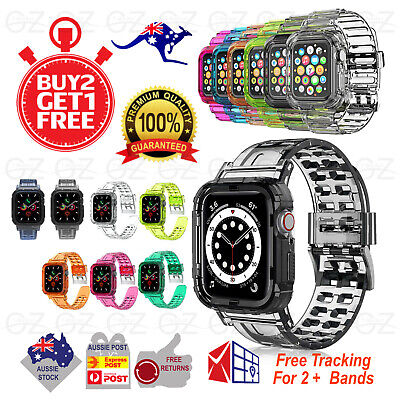 AU10.45 • Buy For Apple Watch IWatch Band SE 6 5 4 3 2 1 Bumper Case Shockproof 44 42 40 38mm